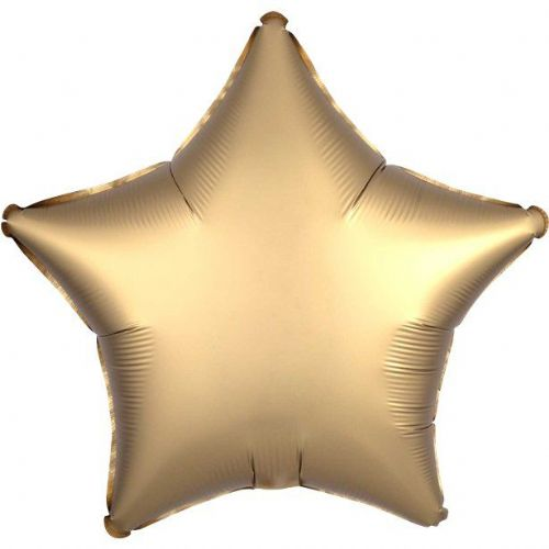 "Gold Sateen Satin Luxe 18"" Star Foil Balloon (each)"